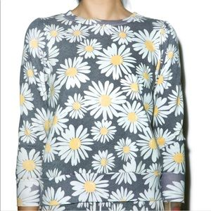 Wildfox Couture Floral Daisy Train Couch Sweater